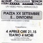 Piazza XX  settembre, 1990